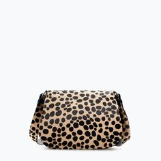 ZARA - SHOES & BAGS - PRINTED LEATHER MESSENGER BAG
