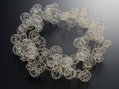 Haruko Sugawara - Bubble Series -necklace stainless strands - Japan jewelry Art show 2010