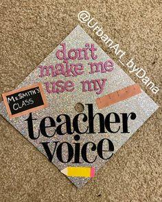 "Dana on Instagram: ""Another day, another day! 🔥🔥 (This design was a recreation) Shoutout to all the teachers!  #teachergraduationcap #atlanta #litgradcaps…"" Teacher Graduation Cap, Shout Out, Atlanta, Day, Instagram, Design, Design Comics"