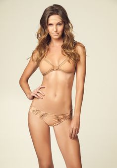 ANDY / CLOUDBREAK $230. Loving the crochet inserts in this solid nude set.
