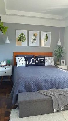 55 small bedroom ideas for your home 2 Modern Bedroom Design, Master Bedroom Design, Home Decor Bedding, Bedroom Decor, Bedroom Ideas, Bedroom Shelves, Bedroom Signs, Room Interior, Interior Design Living Room