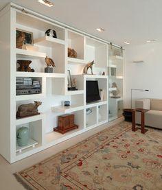- Home Dekor Niche Living, Living Room Bookcase, Inside A House, Muebles Living, Bookshelves Built In, New House Plans, Home Decor Furniture, Home And Living, Modern Living