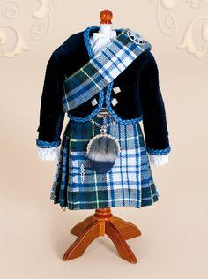 Gordon tartan kilt...in miniature♥