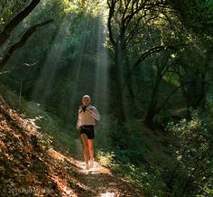 Gorgeous trails, floating runner.