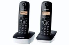 Panasonic KX-TG1612FRW - 2 teléfonos fijos inalámbricos DECT, color blanco/negro (importado) B004YD7DZE - http://www.comprartabletas.es/panasonic-kx-tg1612frw-2-telefonos-fijos-inalambricos-dect-color-blanconegro-importado-b004yd7dze.html