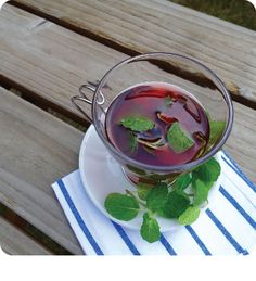 Vibrantly colored, hibiscus tea is clearly rich in antioxidants, which fight free radical damage in the body, and that of course includes the skin.  Hibiscus tea also contains anti-inflammatory properties and helps to lower high blood pressure if consumed regularly.