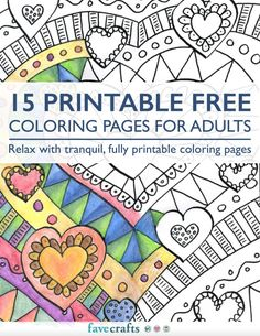 15 Printable Colouring Pages for Adults - Free eBook