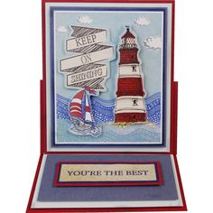Anitas Foiled Decoupage Lighthouse | Hobbycraft