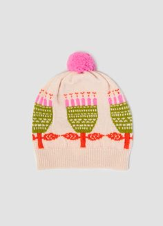 donna wilson flower bobble hat