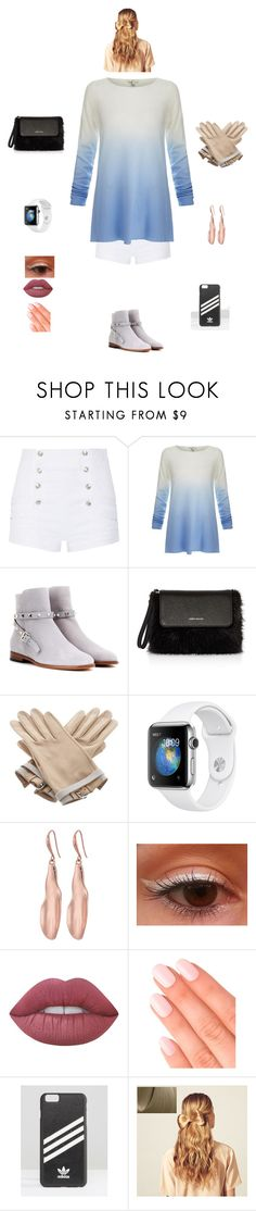 """K B M R M"" by queen-kaitlyn ❤ liked on Polyvore featuring Pierre Balmain, Joie, Valentino, Karen Millen, Hermès, Robert Lee Morris, Lime Crime, Elegant Touch, adidas and Hershesons"