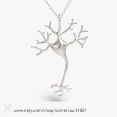 Back in stock! Neuron necklace in raw silver. Purchase link in our bio. #somersault1824
