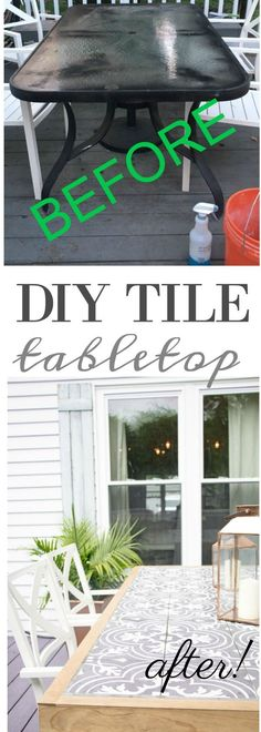 DIY Tile Tabletop