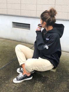 yukoさんのコーディネート Ad Fashion, Tomboy Fashion, Kawaii Fashion, Fashion Outfits, Womens Fashion, Fashion Fall, Sporty Chic, Casual Chic, Cheap Boutique Clothing