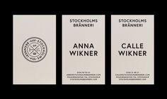 Business Cards for Stockholms Bränneri.