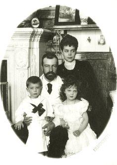 Grand Duchess Xenia Alexandrovna and Grand Duke Alexander Mikhailovich with their children.
