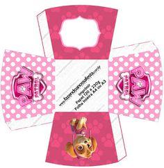 Skye of Paw Patrol: Free Printable Boxes. Sky Paw Patrol, Paw Patrol Party, Paw Patrol Birthday Girl, Baby Birthday, Printable Box, Free Printables, Cumple Paw Patrol, Oh My Fiesta, Cute