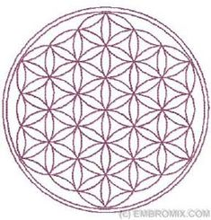Flower of Life machine embroidery design