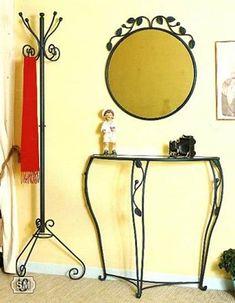 Muebles de forja para el recibidor