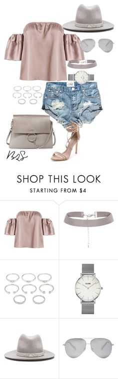"""#739"" by blendingtwostyles ❤ liked on Polyvore featuring Forever 21, CLUSE, rag & bone, Victoria Beckham and Schutz"