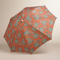 One of my favorite discoveries at WorldMarket.com: Koi Floral Beach Umbrella