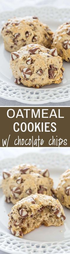 These banana and oatmeal cookies packed with chocolate chips are the perfect mix of crunchy and chewy with perfectly crisp edges and a fluffy center.