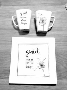 I really like crockery with something written or drawn on it! - I really like crockery with something written or drawn on it! Sharpie Crafts, Sharpie Art, Sharpies, Little Presents, Little Gifts, Homemade Gifts, Diy Gifts, Diy And Crafts, Crafts For Kids