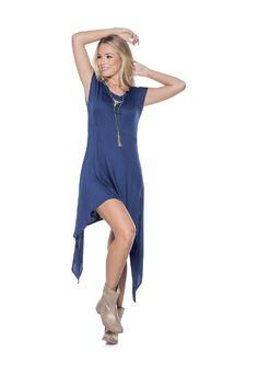 Vestido Juvenil 60127 Azul Oscuro Marketing Personal - Compra Ahora | Dafiti…