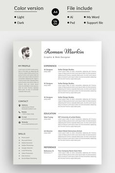 & One Page Cover Letter Paragraph & Character Style Document & Baseline Grid Fully Layered Template Two color resume template Light & Dark Color Design CMYK, 300 DPI HD Resulation 100% Print Ready Files Fully Editable & Customizable Fully Vector & Re-sizable Elements Free Font Used (Download link have in help file) Support File Included Photographer Resume, Photographer Portfolio, Web Designer Resume, Resume Design, Modern Resume Template, Resume Templates, Babysitter Resume, Federal Resume, One Page Resume