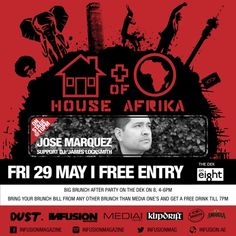 One of my favourite DJ producers of recent years is coming to Dubai Fri May 29... Afro, Latin, house, techno, cosmic electrorganic goodness ... #HouseOfAfrika #DUST