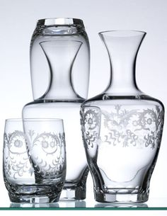 """""""Tora"""" carafes with tumbler by Theresienthal"""