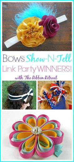 Bows Show-N-Tell Link Party #2 WINNERS! - The Ribbon Retreat Blog