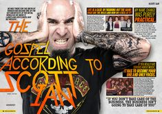 MHR262 Scott Ian of Anthrax feature from 2014 for Metal Hammer Magazine in the UK.