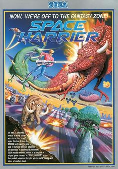 Sega's Space Harrier. This was such an original, surrealistic game. I loved the hydraulic arcade game cabinet. It turned the gameplay into a thrilling experience.