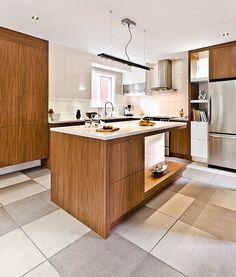 On vise un brun de cette teinte pour notre cuisine.  Combinée avec armoires blanches
