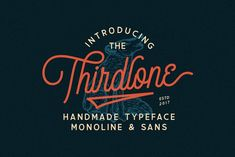 Thirdlone Font Duo & Vector Pack by Letterhend on @creativemarket #font #typography
