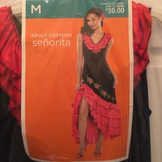 Señorita costume Sexy señorita costume Women's size M never worn just tried on nice condition, will sell for $30 price listed $40 so I can get u discount shipping Dresses