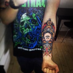 New one! Demon twofaced girl by Franz Jäger @ Le Fix Tattoo