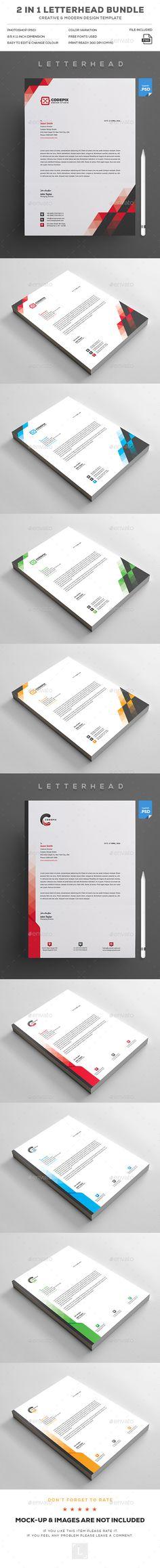 #Letterhead Bundle - Stationery Print Templates Download here: https://graphicriver.net/item/letterhead-bundle/19261332?ref=alena994