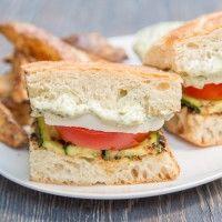 Grilled Zucchini Caprese Sandwich   tasteslovely.com