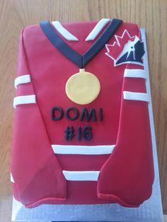 Jr World Hockey Jersey Cake