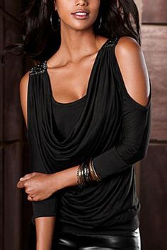 Studded cold shoulder top from VENUS women's swimwear and sexy clothing. Order Studded cold shoulder top for women from the online catalog or Sexy Outfits, Cool Outfits, Casual Outfits, Fashion Outfits, Womens Fashion, Summer Outfits, Venus Clothing, Timeless Fashion, My Style