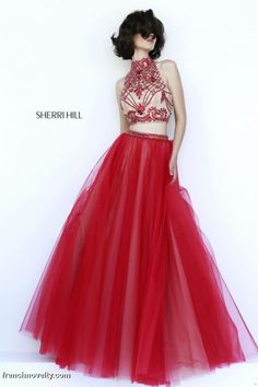 47ca1fa3205 Sherri Hill 11211 2pc High Neck Dress