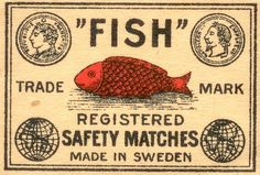 """Fish"" safety matches (Sweden)"
