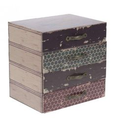 WOODEN_METAL BOX 'MATCHBOX' 24X18X24