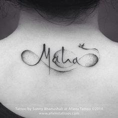 Tatuagem do Infinito com Nome | Nuca em pontilhismo