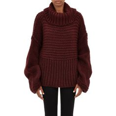 "Acne Studios Oversize Split-Turtleneck ""Gaja"" Sweater at Barneys.com $498  This is all I want for my body."