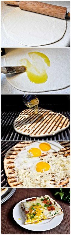 Grilled Breakfast Pizza Recipe