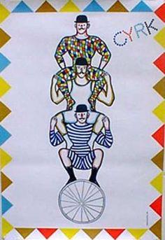 DP Vintage Posters - Cyrk Polish Circus Original Vintage Poster Acrobats