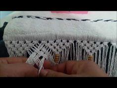 Macramé Treliça 2/3 - YouTube Macrame Toran, How To Do Macrame, Macrame Tutorial, Macrame Patterns, Ribbon Embroidery, Tatting, Knit Crochet, Weaving, Gift Wrapping