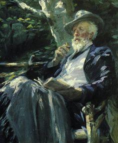'Portrait of Holger Drachmann' -  Peder Severin Kroyer (1851-1909) [Skagen Painter]